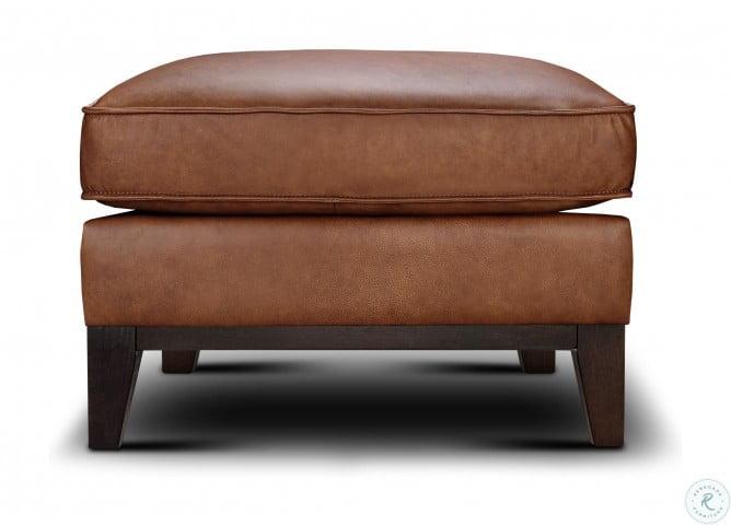 Chelsea Honey Roscoe Leather Living Room Set