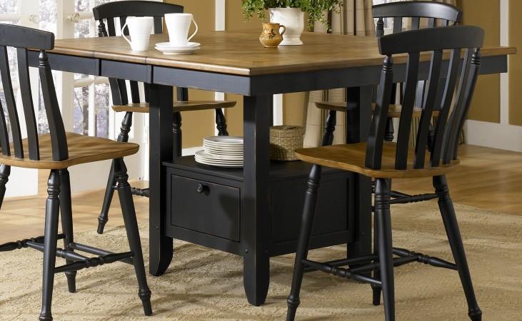Al Fresco Black Extendable Gathering Table