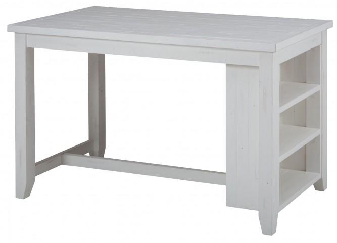 Madaket Reclaimed Pine Shelf Storage Counter Height Dining Table