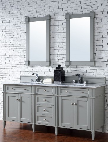 Brittany 72 Urban Gray Double 2cm Top Vanity Set From James Martin