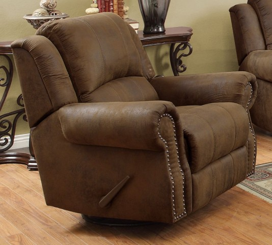 Sir Rawlinson Brown Rocker Recliner