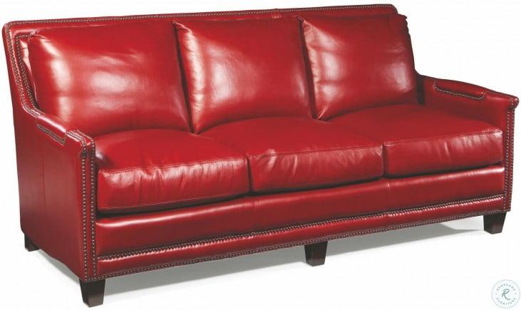 Prescott Supple Red Leather Sofa