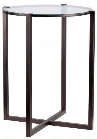 Lodin Satin Bronze Accent Table