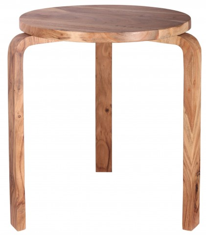 Stylus Natural Sanded Accent Table