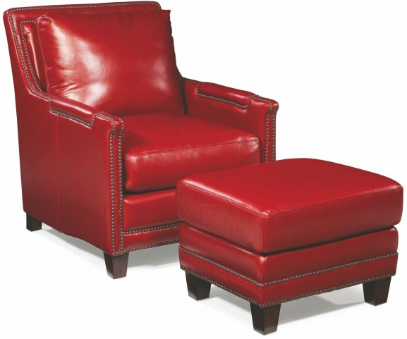 Prescott Supple Red Leather Chair From Spectra Home