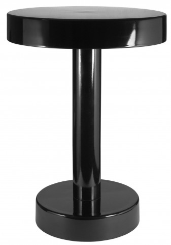Weldon Black Powder Coated Accent Table