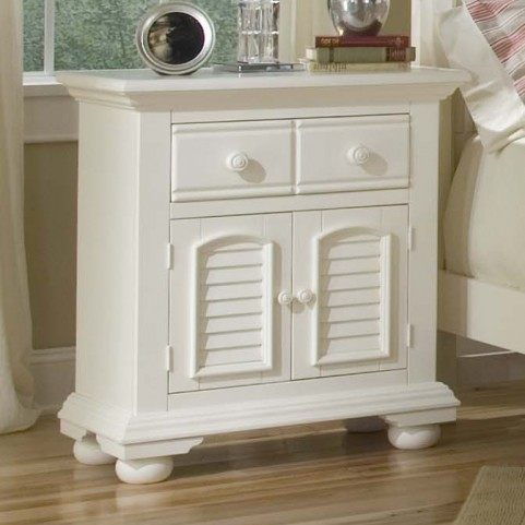Cottage Traditions White Door Nightstand