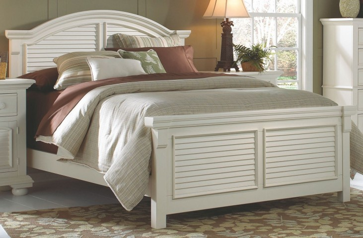 Cottage Traditions White King Panel Bed