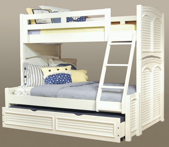Cottage Traditions White Twin Over Full Bunk Bed