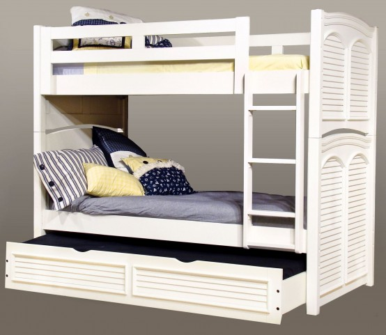 Cottage Traditions White Twin Over Twin Bunk Bed