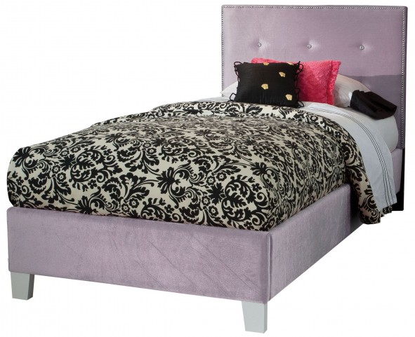Young Parisian Lavender Twin Upholstered Bed