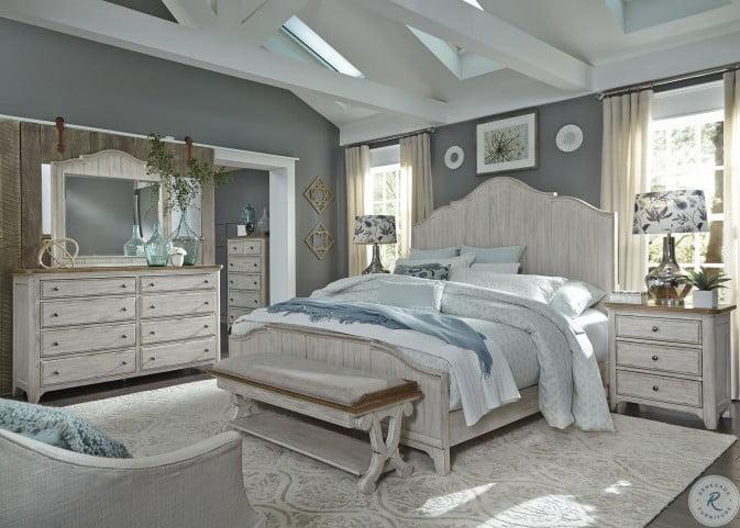 Farmhouse Reimagined Antique White Panel Bedroom Set