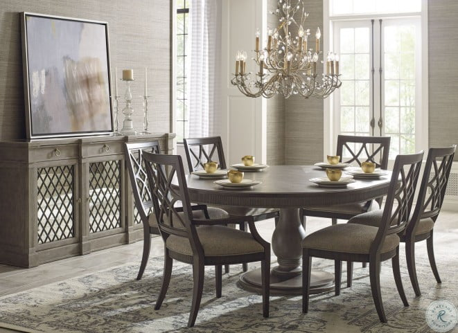 Savona Versaille and Elm Octavia Round Extendable Dining Room Set