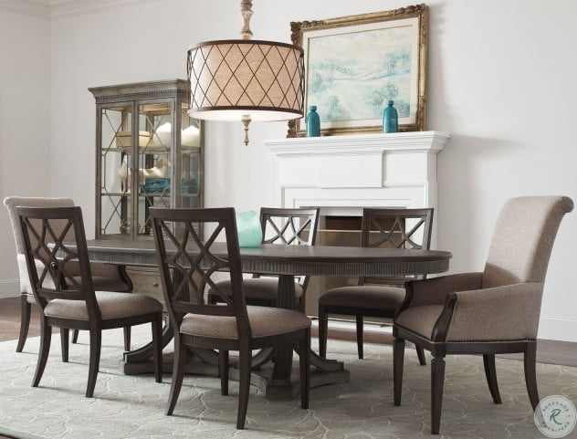 Savona Versaille and Elm Friedrick Oval Extendable Dining Room Set