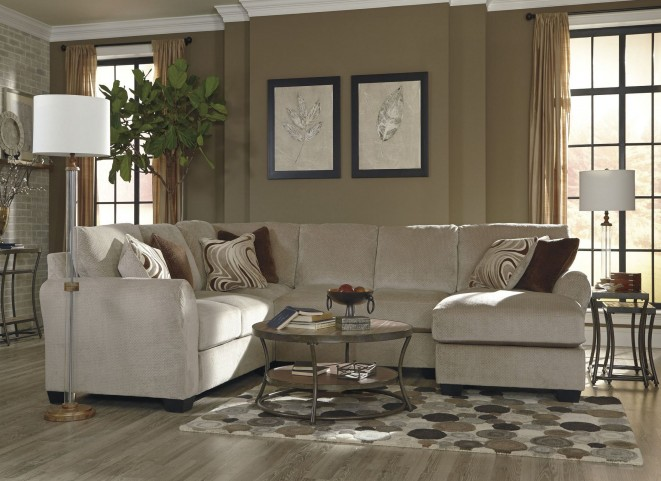 Hazes Fleece RAF Loveseat Sectional
