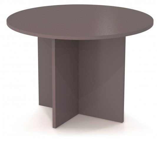 "Bestar 42"" Round Meeting Table With 1"" Melamine Top In Slate"