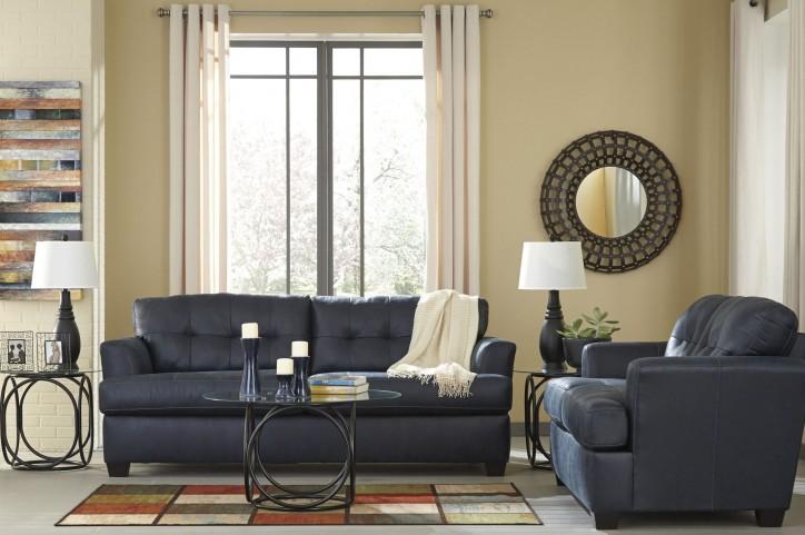 Inmon Navy Living Room Set