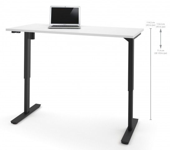 """60"""" White Electric Height Adjustable Table"""