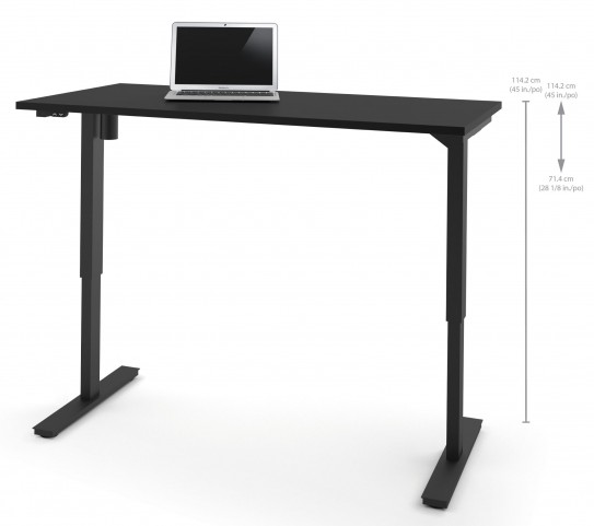 """60"""" Black Electric Height Adjustable Table"""