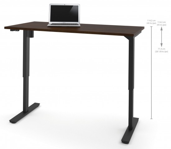 """60"""" Chocolate Electric Height Adjustable Table"""