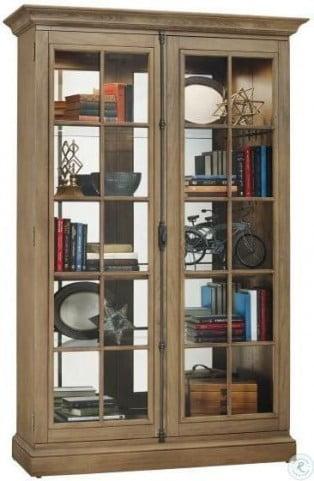 Clawson II Aged Natural Curio Cabinet