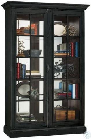 Clawson IV Aged Black Curio Cabinet