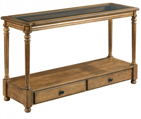 Candlewood Warm Caramel Sofa Table From Hammary Coleman Furniture