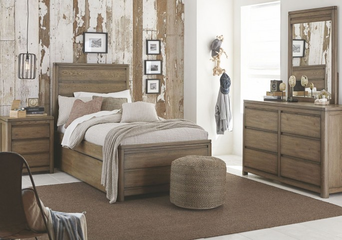 Big Sky by Wendy Bellissimo Weathered Oak Youth Panel Bedroom Set