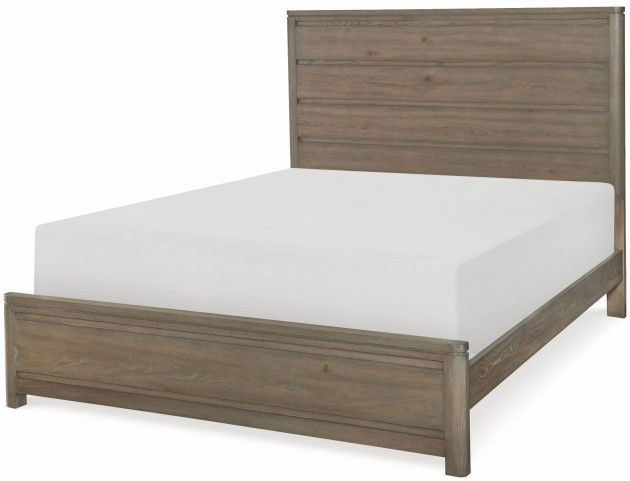 Big Sky by Wendy Bellissimo Weathered Oak Queen Panel Bed