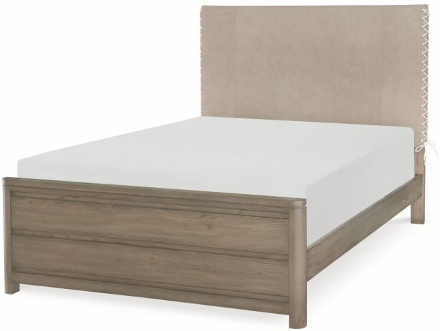 Big Sky by Wendy Bellissimo Weathered Oak Full Upholstered Bed