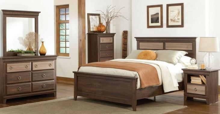 Weatherly Textured Two-Tone Panel Bedroom Set