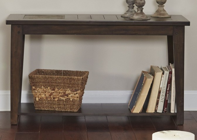 Hearthstone Dark Rustic Oak Sofa Table