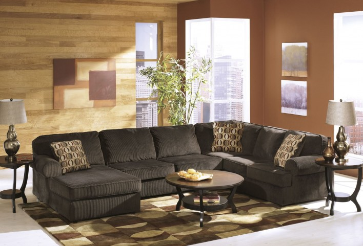 Vista Chocolate LAF Sectional