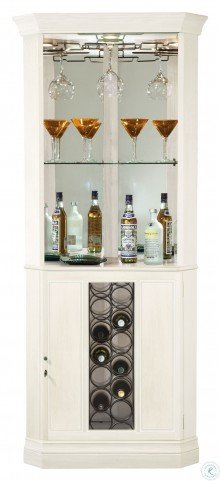 Piedmont V Aged Linen Wine And Bar Cabinet