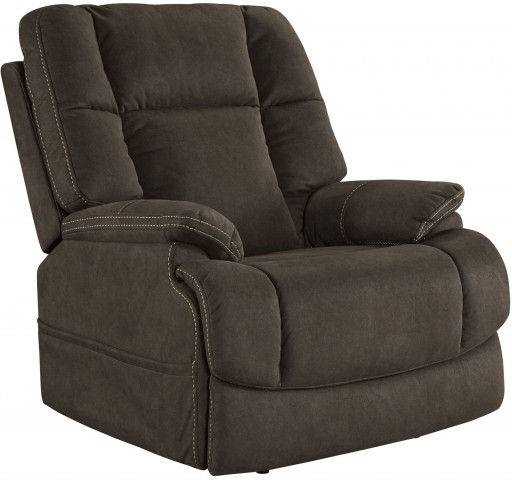 Fourche Bark Power Recliner With Adjustable Headrest