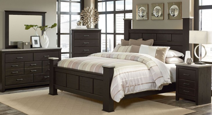 Stonehill Dark Brown Pecan Poster Bedroom Set