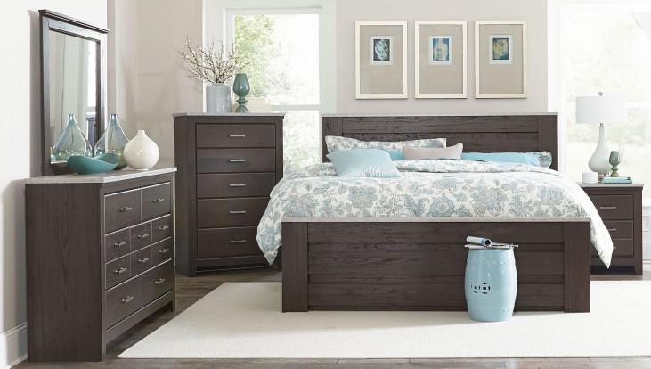 Stonehill Dark Brown Pecan Poster Mansion Bedroom Set