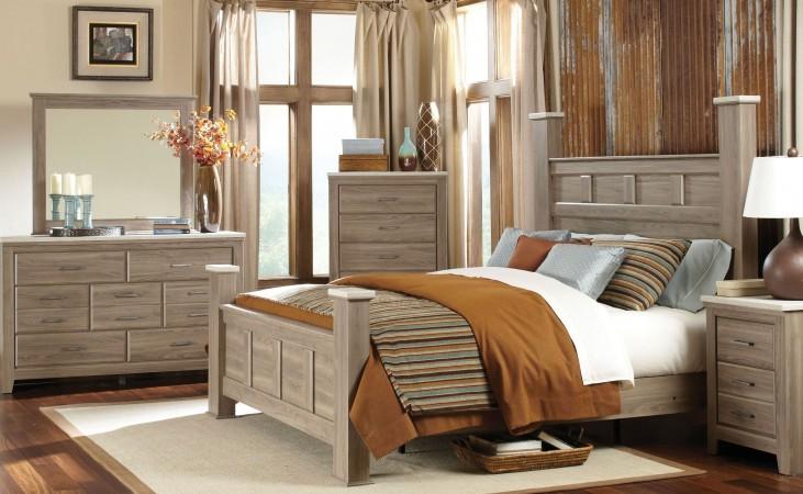 Stonehill Weathered Oak Poster Bedroom Set