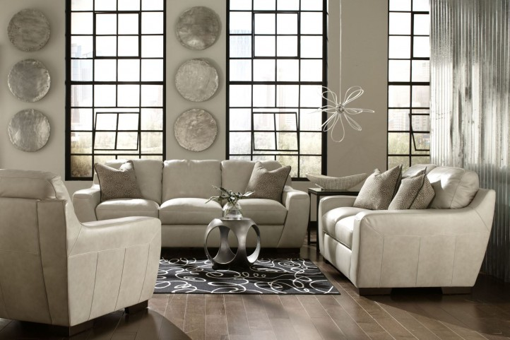 Alpha White Living Room Set