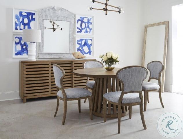 Laguna Vintage Smoke Round Dining Room Set From Bassett Mirror Coleman Furniture
