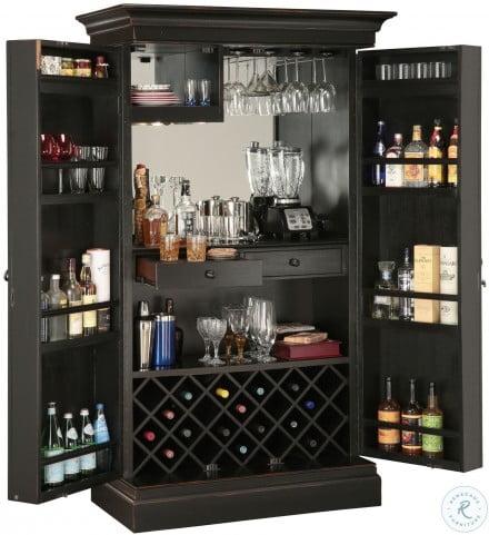 Sambuca Black Wine and Bar Cabinet