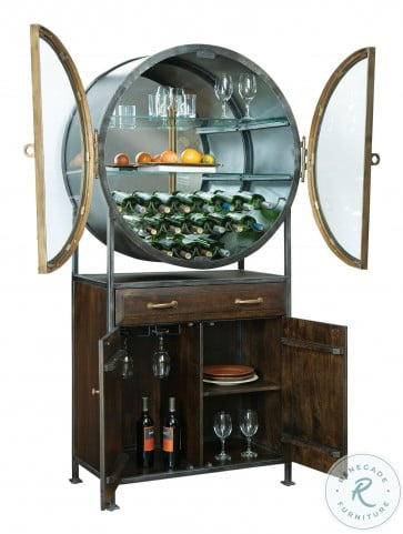 Rob Roy Rustic Hardwood Bar Cabinet