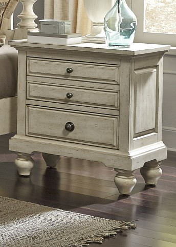 High Country White Nightstand