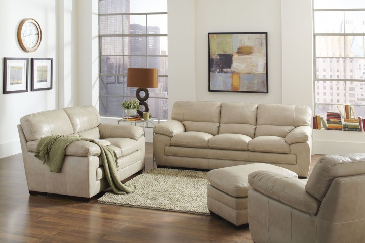 Biscayne White Living Room Set