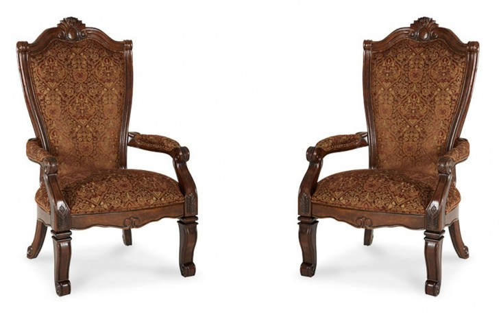 Windsor Court Fabric Arm Chair Set of 2