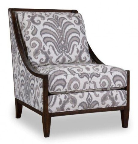 Morgan Charcoal Wood Frame Accent Chair