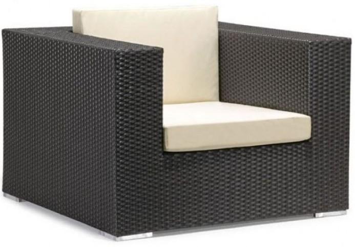 Cartagena Espresso & Beige Arm Chair