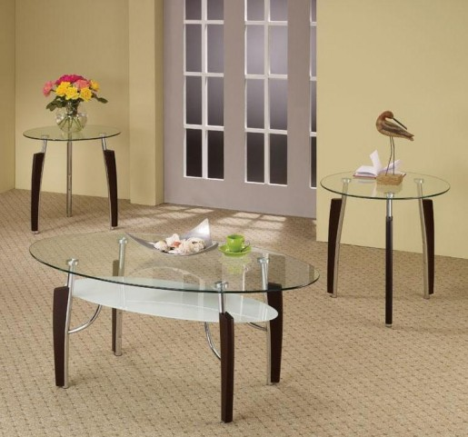 3pc Cappuccino Occasional Table Set 701558