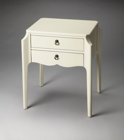 Wilshire Masterpiece Glossy White Accent Table