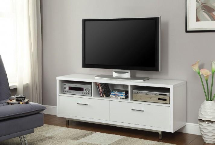 701972 White Storage TV Console